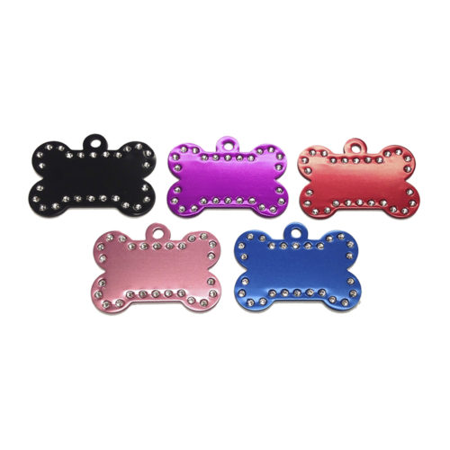 Fancy Dogs Placa Hueso Con Cristales Swarovski