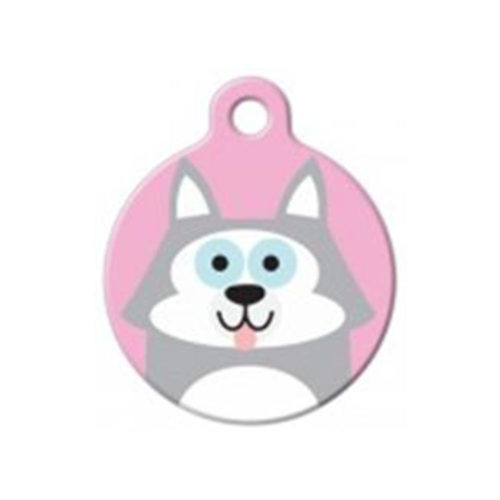 Fancy Dogs Placa Cute Husky Girl
