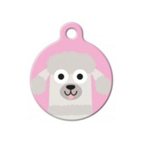 Fancy Dogs Placa Poodle Girl