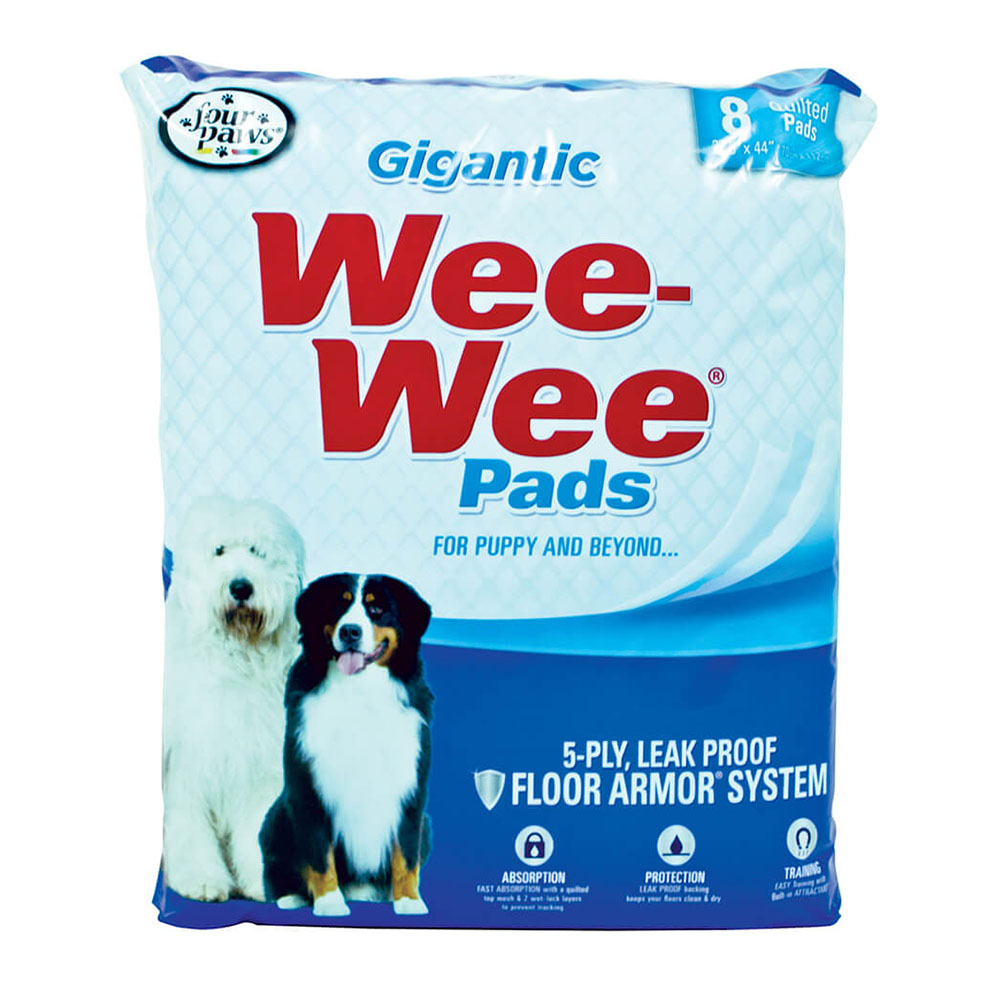 Four Paws Wee Wee Pads Alfombra Gigantic 8 unid.