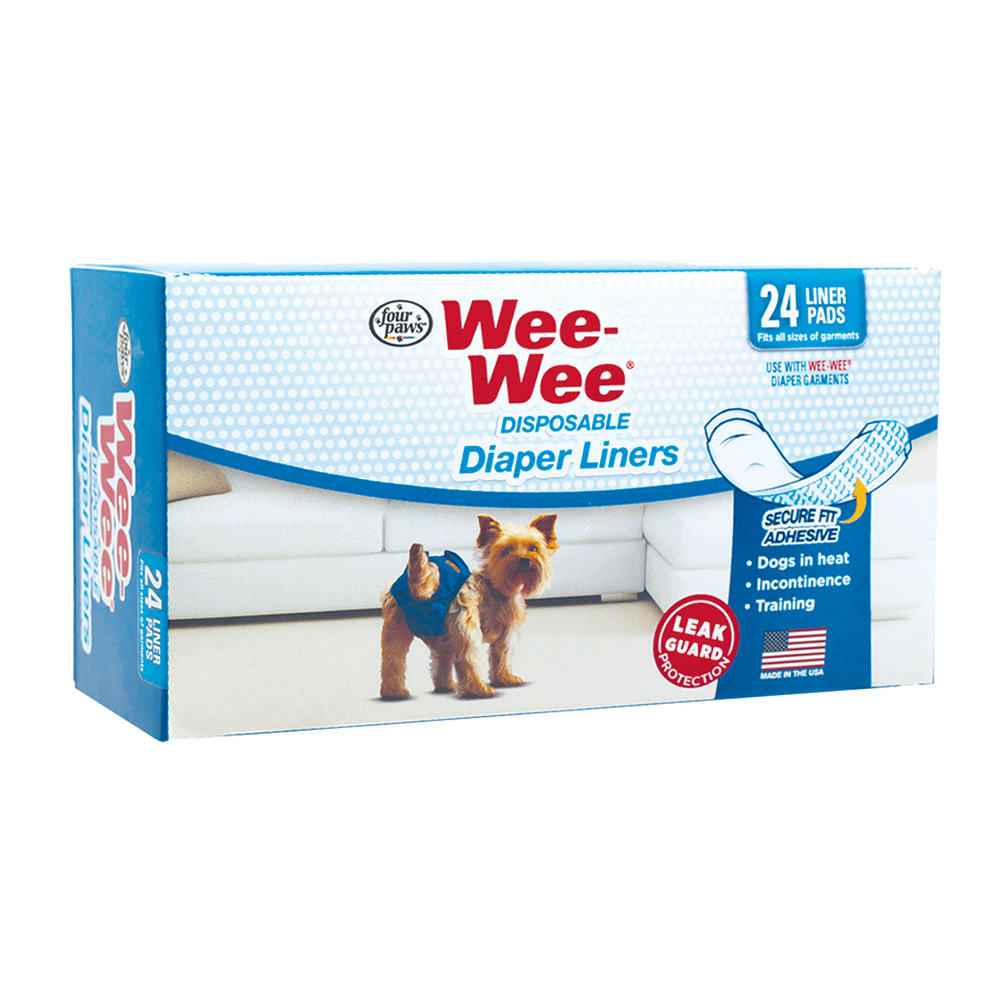 Four Paws Wee Wee Toalla Disposable Liner 24 unid.