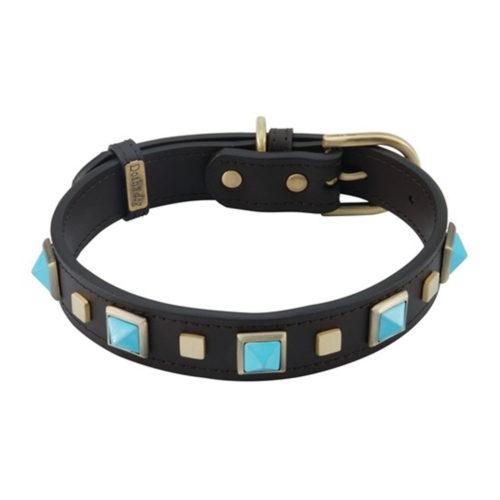 Dosha Collar Cuero Brown Rock & Roll Turquoise
