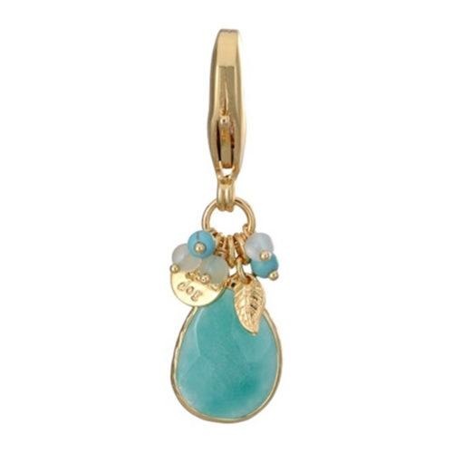 Dosha Amuleto Faceted Light Blue Quartz