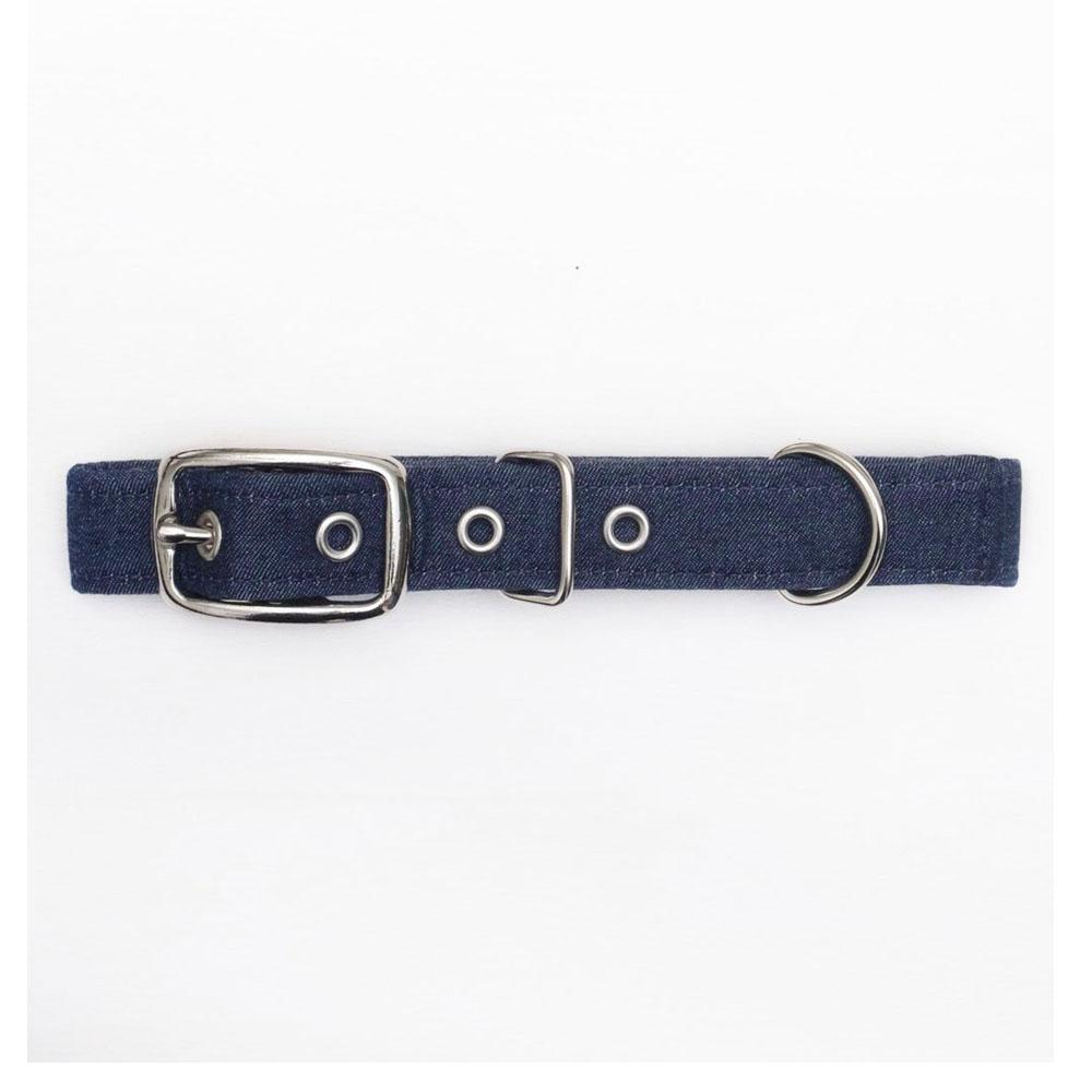 Jolie Dog Collar Algodón Indigo Denim