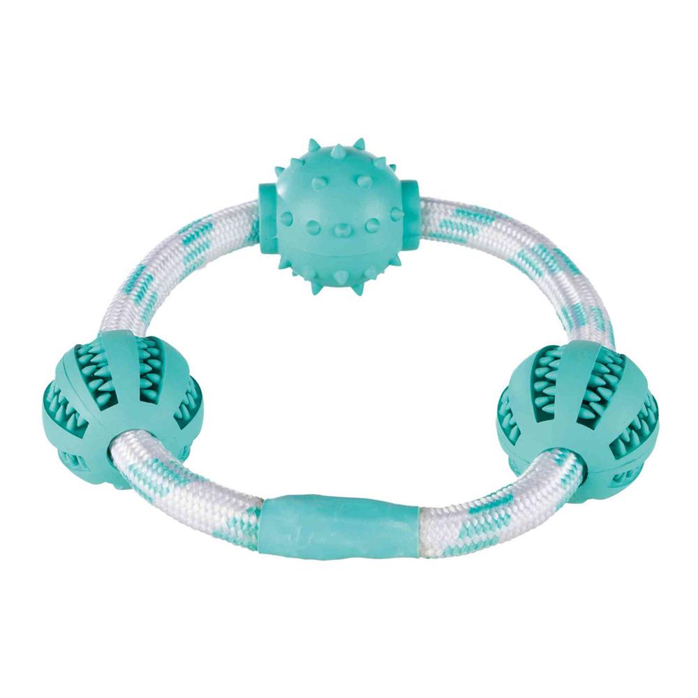 Trixie Denta Fun Cuerda Ring With Balls