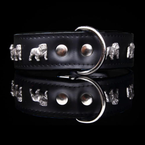 Fancy Dogs Collar Cuero Bulldog Ingles