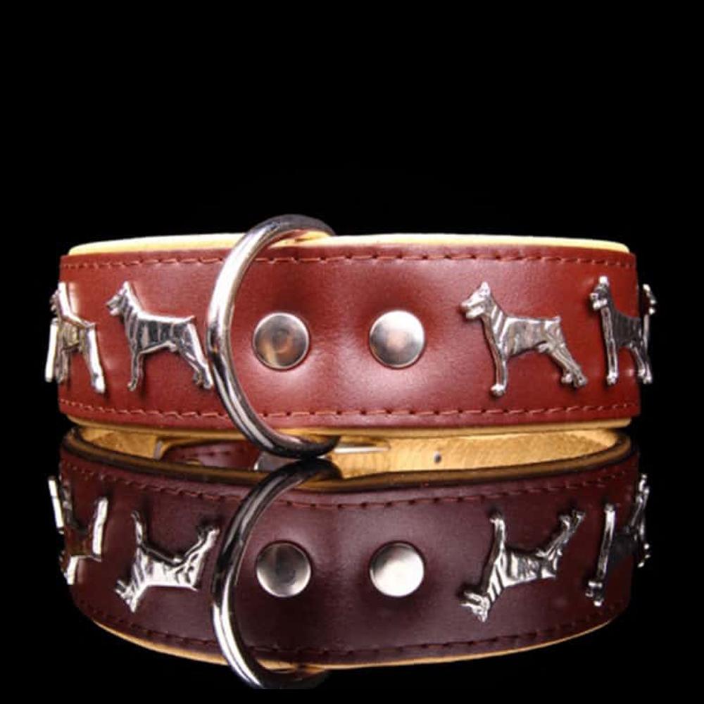 Fancy Dogs Collar Cuero Doberman