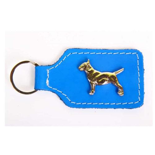 Fancy Dogs Llavero Cuero Bull Terrier