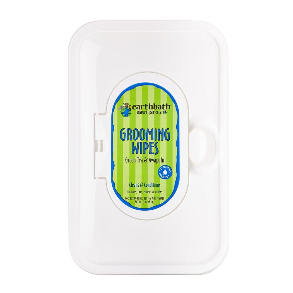 Earthbath Pañitos Grooming Green Tea & Awapuhi 100 unid.