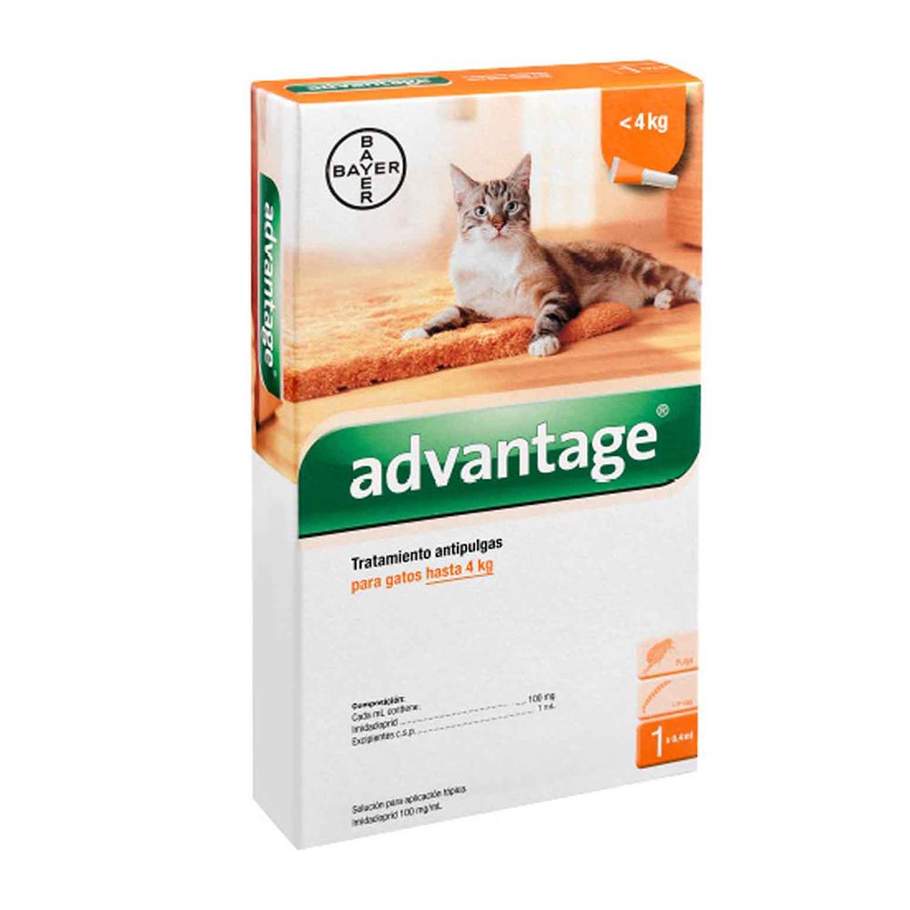 Bayer Advantage Pipeta Gato 0-4 kg.