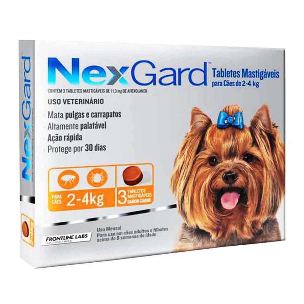 Frontline Nexgard Pastilla 2-4 kg. 3 unid.