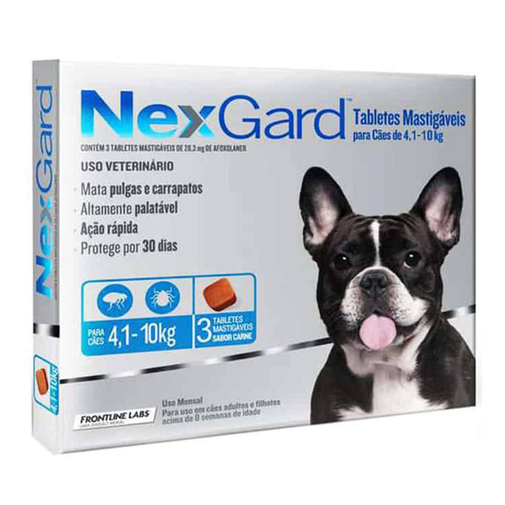 Frontline Nexgard Pastilla 4.1-10 kg. 3 unid.