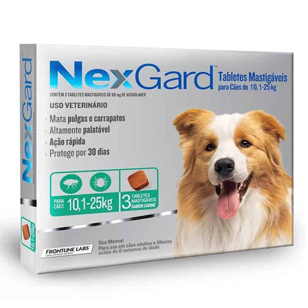 Frontline Nexgard Pastilla 10.1-25 kg. 3 unid.