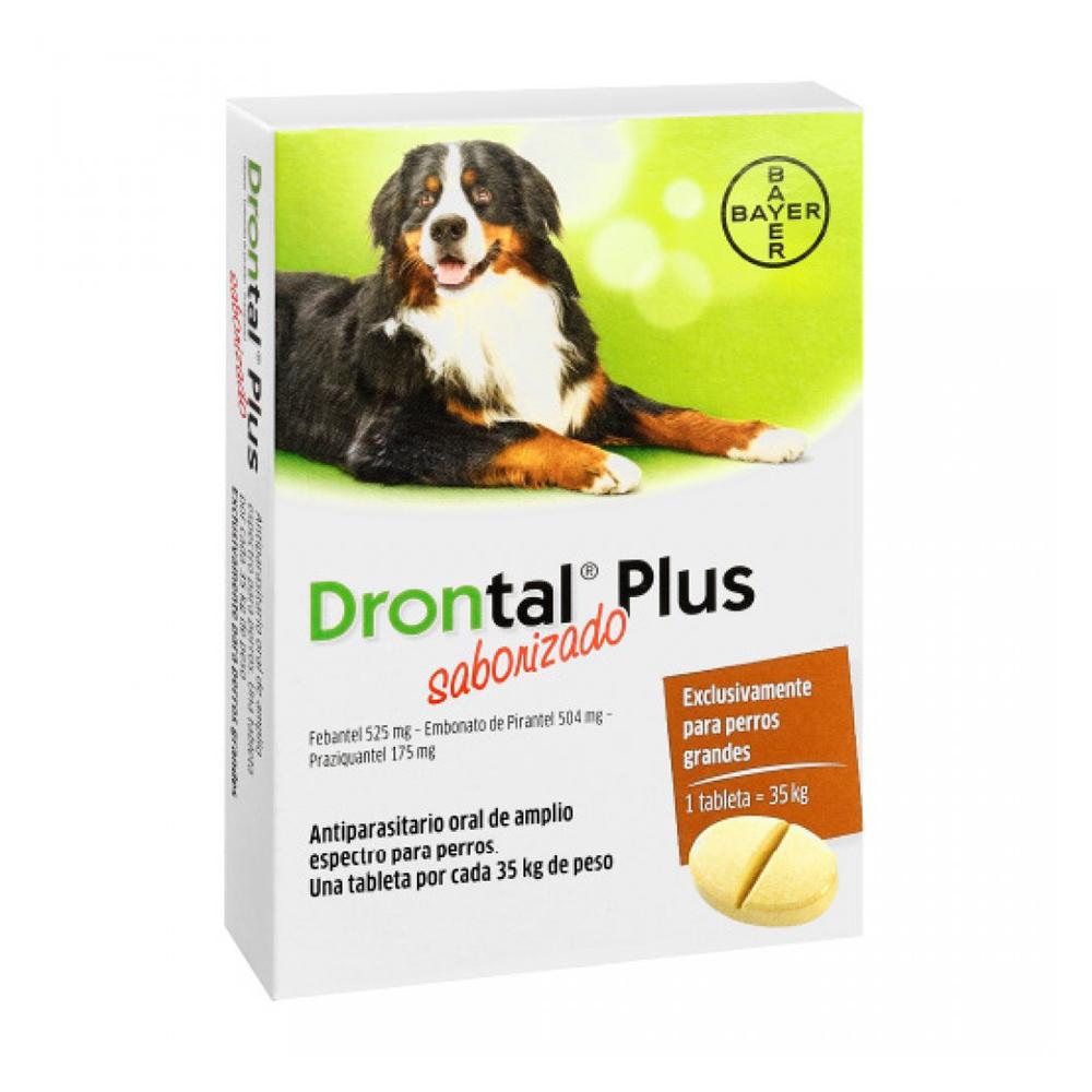 Bayer Drontal Pastilla PS Perros Grandes Saborizado 1 Tab