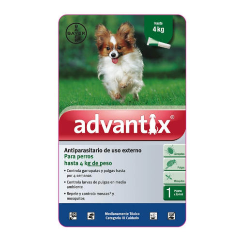Bayer Advantix Pipeta 0-4 kg.