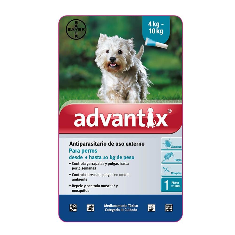 Bayer Advantix Pipeta 4-10 kg.