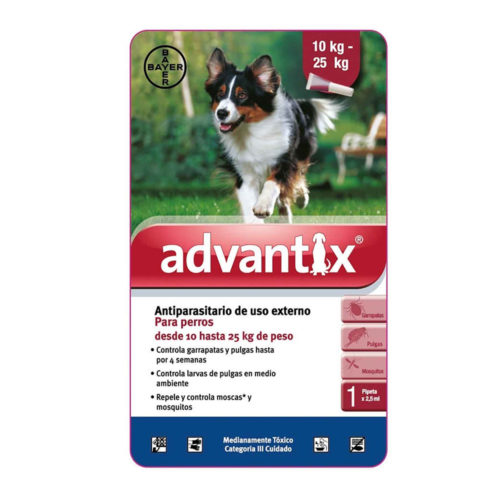 Bayer Advantix Pipeta 10-25 kg.