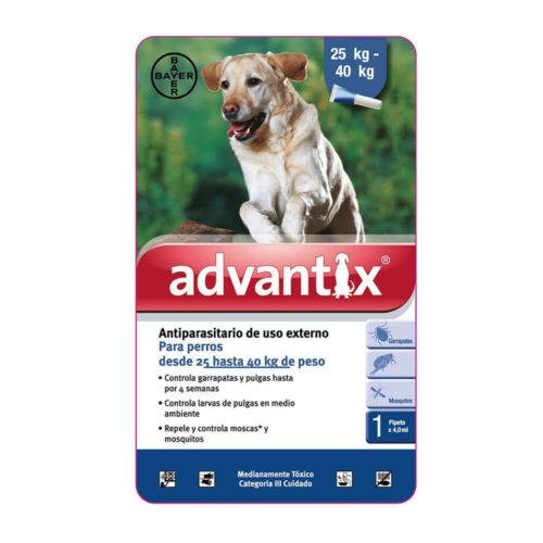 Bayer Advantix Pipeta 25-40 kg.