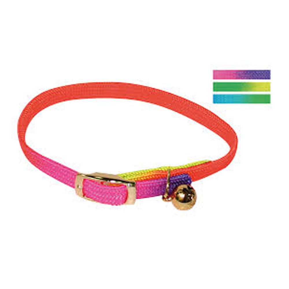 Croci Collar Elastic Rainbow