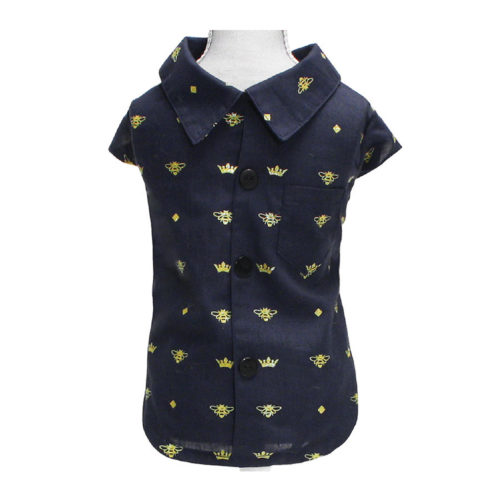 Croci Camisa Blue Bees