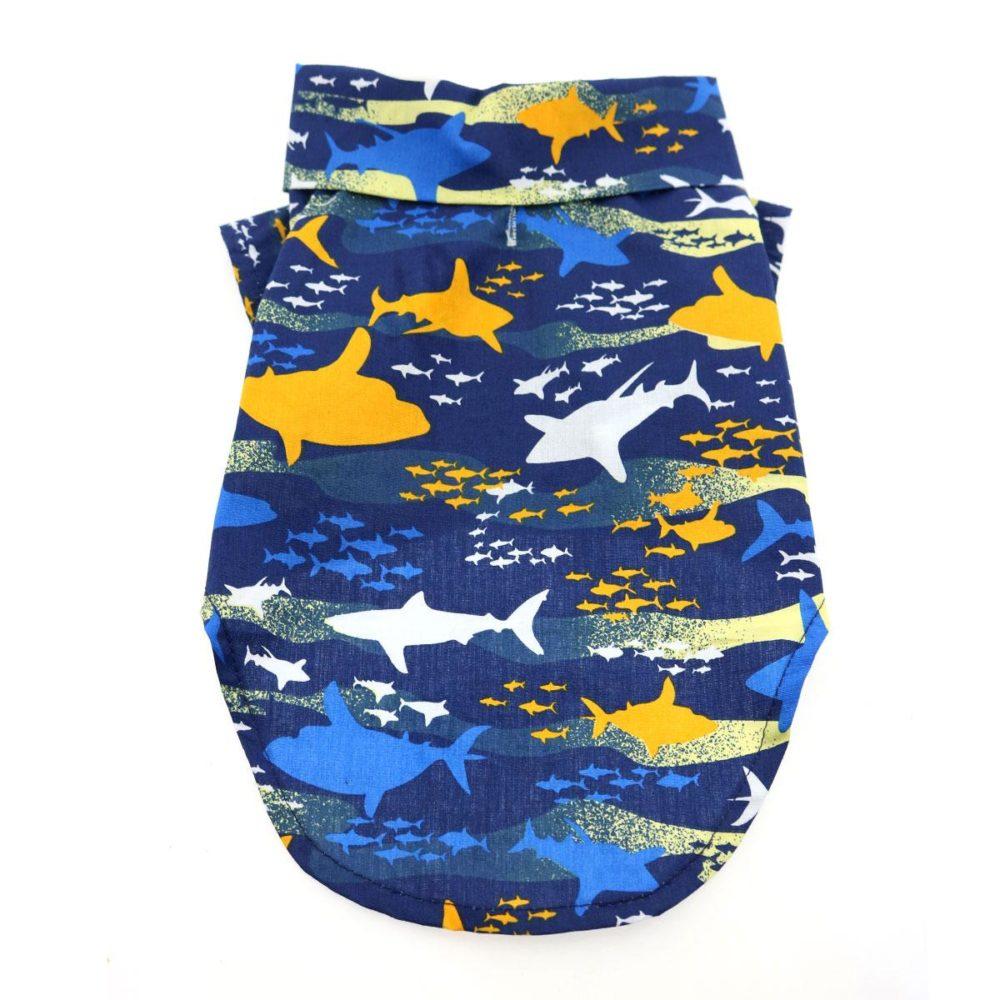 Doggie Design Camisa Algodón Island Sharks