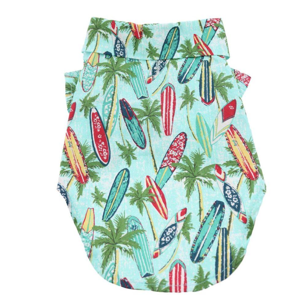 Doggie Design Camisa Algodón Surfboards And Palms
