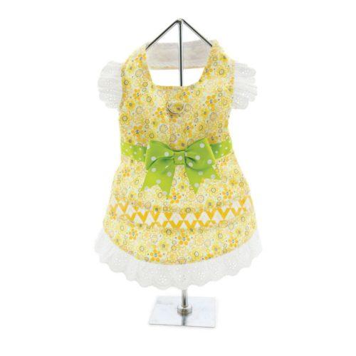 Doggie Design Vestido y Correa Emily Yellow Floral
