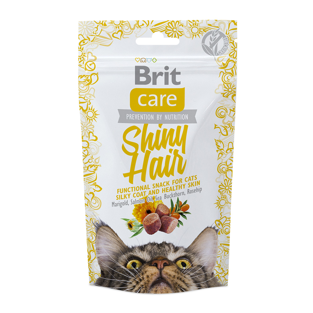 Brit Care Cat Snack Shiny Hair 50 gr.